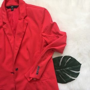 💙 EUC coral cotton blazer